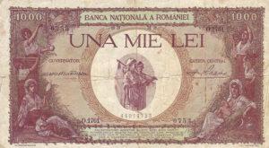 1000 lei 1928-1939 avers