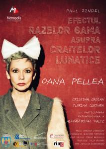 "Poster ""Efectul razelor gama..."" www.teatrulmetropolis.ro"