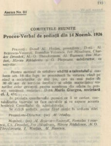 Proces verbal 14 nov 1926